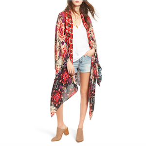 Free People floral print kimono Nordstrom Cyber Monday Sale photo