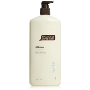 Ahava Mineral Body Lotion in a cream bottle with a pump. photo