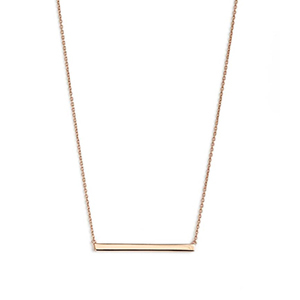 Rose gold bar necklace photo