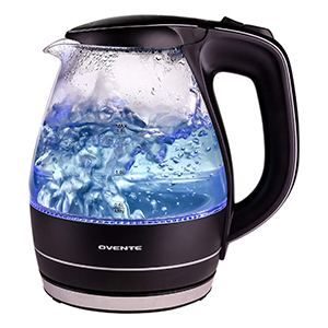 Glass electric kettle with LED light indicator photo