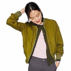 Army green women's bomber jacket from J.Crew Mercantile photo
