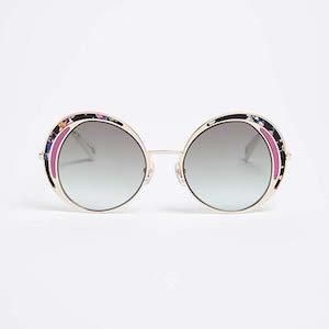 Round Sunglasses with Pink Trim from Marc Jacobs photo