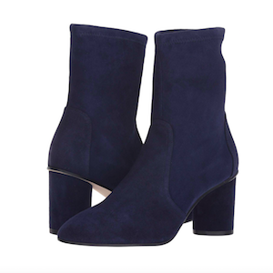 Navy Blue Suede Ankle Boots from Stuart Weitzman photo