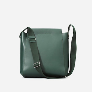 Green Leather Tote with Crossbody Strap by Everlane photo
