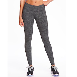 Gray mid-rise leggings from Old Navy photo