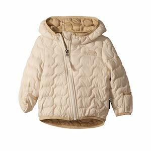 Cream hooded infants puffer jacket from North Face photo