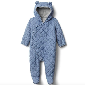 Blue chambray hooded bear one-piece from Gap photo