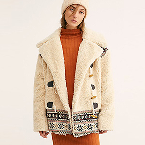 Tan teddy coat from Free People photo
