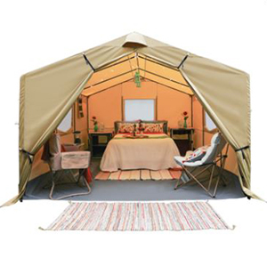 Tan luxury wall tent from Ozark photo