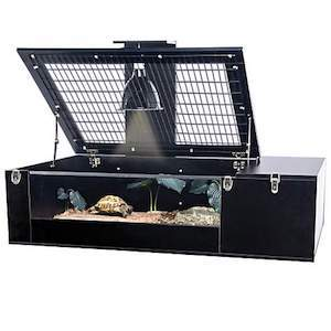 Black wire top terrarium for turtles from Penn Plax photo