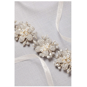 pearl and crystal Flower sash from David's Bridal photo