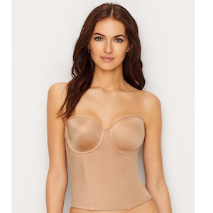 bridal shapewear strapless longline bra from Le Mystere photo