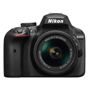 Black Nikon D3400 DSLR Camera from Amazon photo