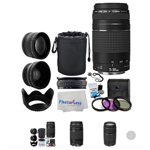 Canon 12-piece lens kit plus cleaning kit from Walmart. photo