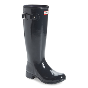 Tall black Hunter rain boots from Nordstrom. photo