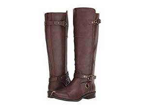 Brown leather riding boots. photo