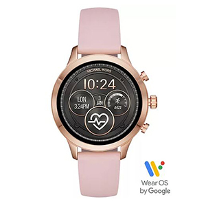 Pink Michael Kors watch with black watch face photo