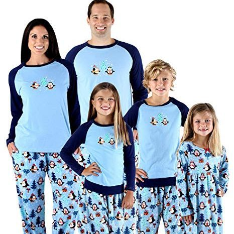 Sleepytime PJs' Holiday Matching Penguin two-piece sets photo