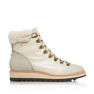 New York Maira Round Toe leather and suede hiking boots by Kate Spade photo