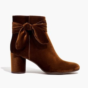 The Esme velvet bow boot by madewell photo