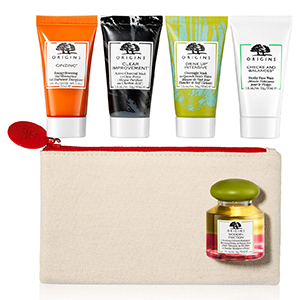 Origins 6 piece gift set with masks, moisturizers, and face washes from Macy's. photo