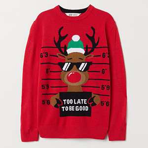 Red kids ugly Christmas sweater with