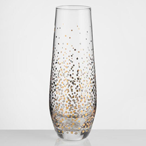 Gold and silver sparkly champagne flutes photo