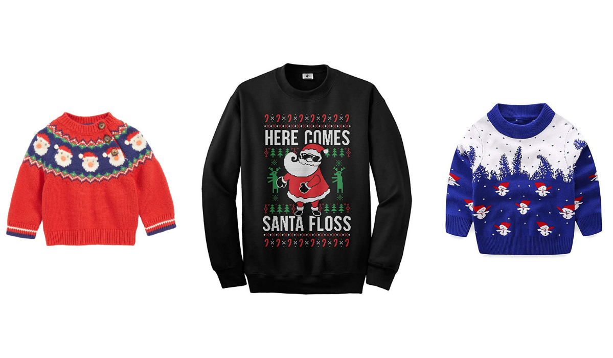 20 Best Ugly Christmas Sweaters for Babies, Toddlers and Kids (Plus Some Cute Styles, Too!)