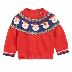 Mini Boden Fair Isle Ugly Christmas Sweater for Babies photo