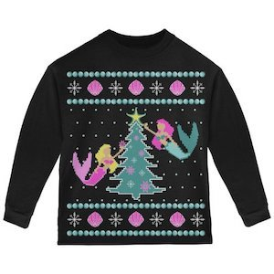 Mermaid Tree Sweater Ugly Christmas Sweater for Toddlers photo