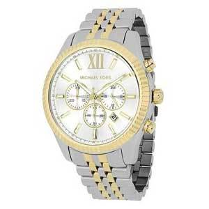 Men's Watches Under $200 Michael Kors Men's Lexington Two-Tone Stainless-Steel Watch MK8344 photo