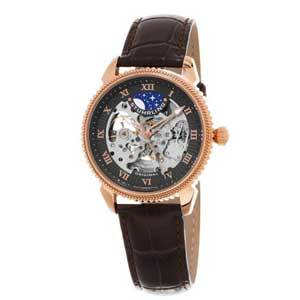 Men's Watches Under $200 Stührling Original 835.04 835 04 Special Reserve Automatic Skeleton Leather Men's Watch photo
