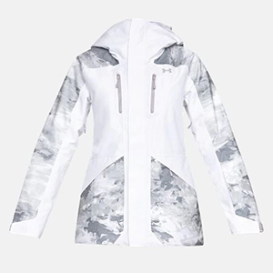 White and gray snowboard jacket by Under Armour photo