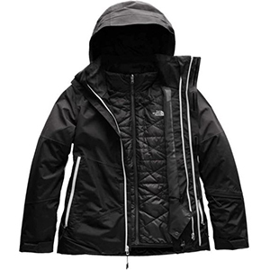 Black snowboarding jacket by The North Face photo