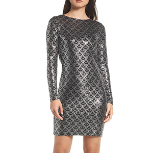 Long-sleeve cocktail dress by Michael Kors photo