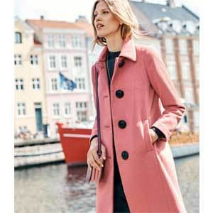 Winter Wedding Coats Boden Conway Coat in Blush photo