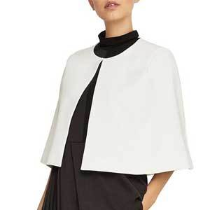Winter Wedding Coats BCBGMAXAZRIA Cropped Capelet in Off White photo