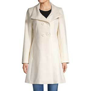 Winter Wedding Coats Trina Turk Kate Double Breast Fit and Flare Coat photo
