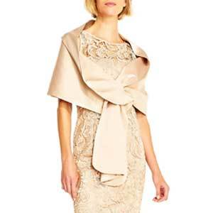 Winter Wedding Coats Adrianna Papell Wrap in Champagne photo