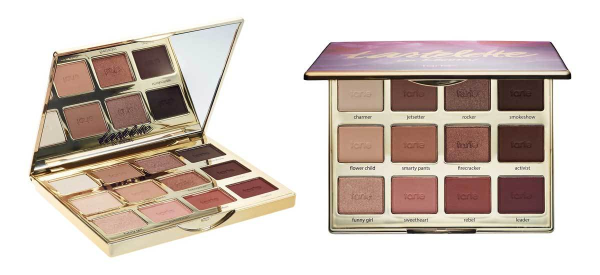 Eyeshadow palette by Tarte with 12 shades. photo