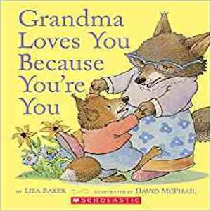 Book with foxes on it titled Grandma Loves You Because You're You from Amazon photo