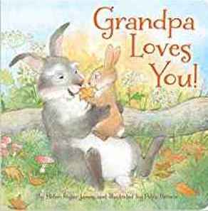A book with rabbits on it titled Grandpa Loves You from Amazon photo