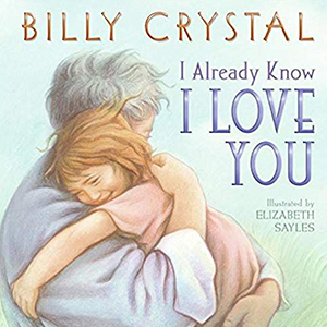 A grandpa and child on a book titled I Already Know I Love <em> You</em> from Amazon photo