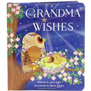 Book with Owls on it titled Grandma Wishes from Amazon photo