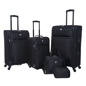 Softside luggage set from Target in black photo