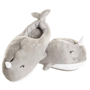 Heated narwhal slippers from Amazon photo