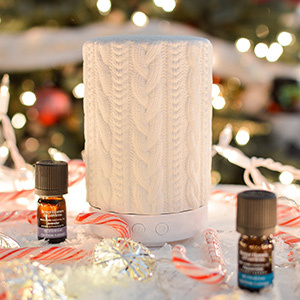 Essential oil diffuser with a knitted design. photo