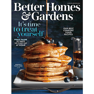 Pancakes on the cover of a magazine photo
