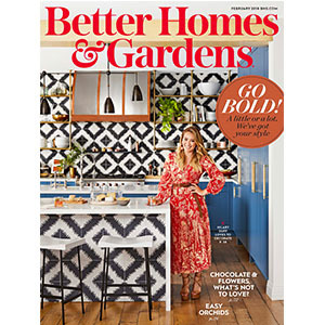 Hilary Duff on the cover of Better Homes & Gardens magazine photo