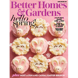 Pink cupcakes on the cover of a magazine photo